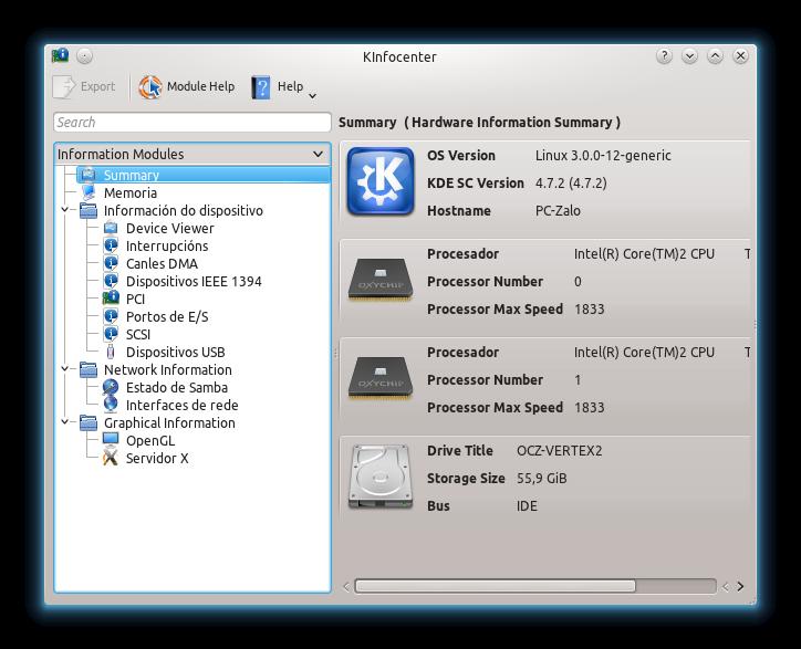 Imagen del visor de dispositivos de KDE