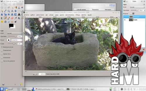Captura de pantalla de GIMP