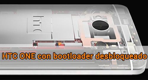 HTC ONE bootloader desbloqueado