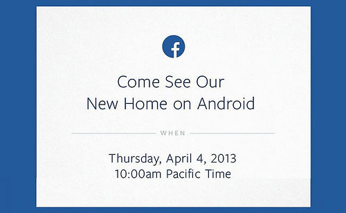 Nota de prensa Facebook,come see our new home on Android