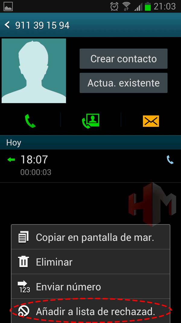 bloquear numeros de telefono 3