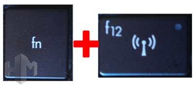 Wifi desconectado FN+F para activar WIFI