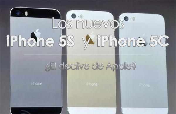 iPhone 5S y iPhone 5C el declive apple