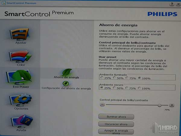 Monitor-Philips-menu-SmartControl-Premium-EcoPower-l