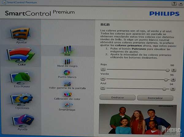 Monitor-Philips-menu-SmartControl-Premium-color-l