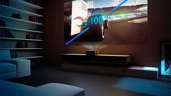 Proyector-Philips-pantalla