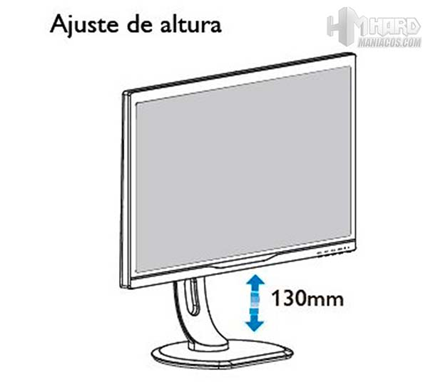 Monitor-Philips-Gamer-movimiento-ajuste-de-altura