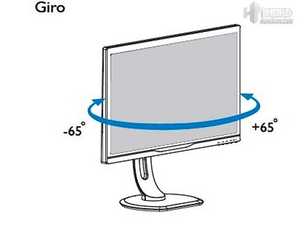 Monitor-Philips-Gamer-movimiento-giro
