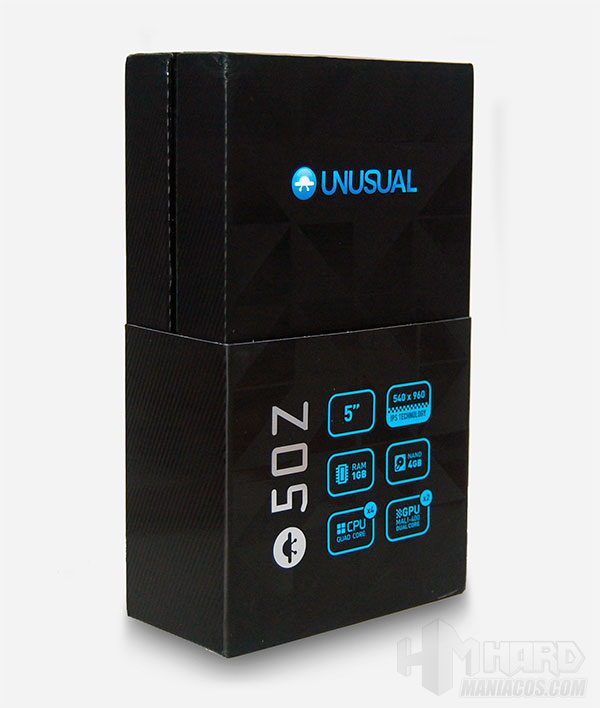 Smartphone-Unusual-50Z_caja-parte-frontal