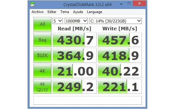 SSD HyperX Savage Test Cristaldiskmarck