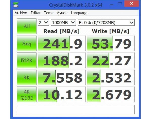 Prueba de velocidad USB 3.0