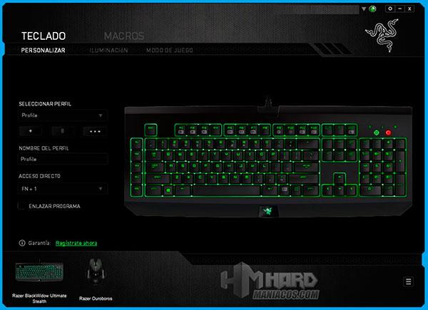 Teclado-Razer-BlackWidow-Ultimate-Stealth-Synapse-Personalizar