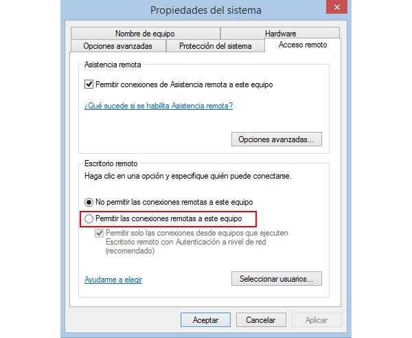 Activar desactivar el escritorio remoto de windows - Activar escritorio remoto windows xp ...