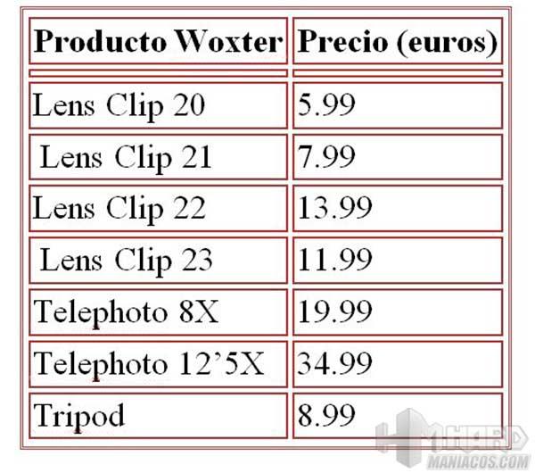acccesorios-Woxter-precios