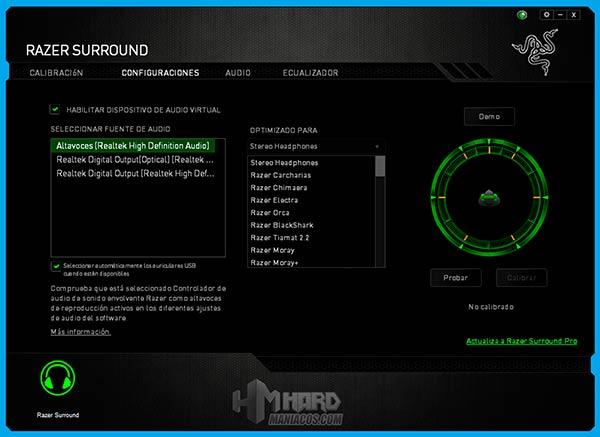 Razer-Surround,-Configuraciones,-tipo-de-auriculares