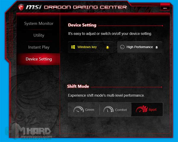 Portatil-GT80Titan-programa-MSI-Dragon-Gaming-Center-Device-Setting