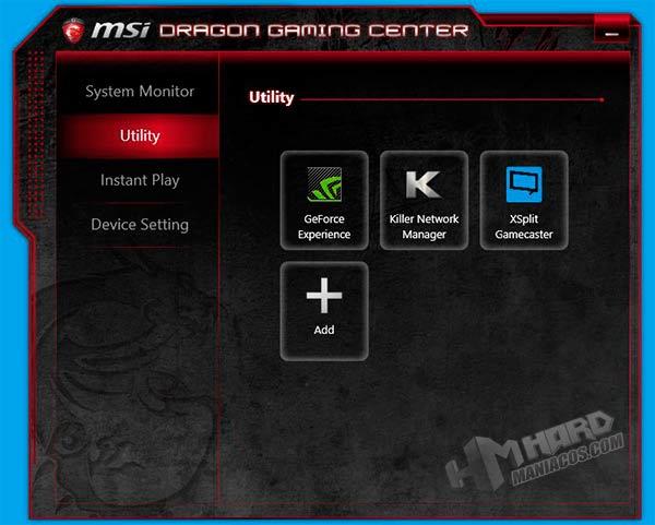 Portatil-GT80Titan-programa-MSI-Dragon-Gaming-Center-Utility