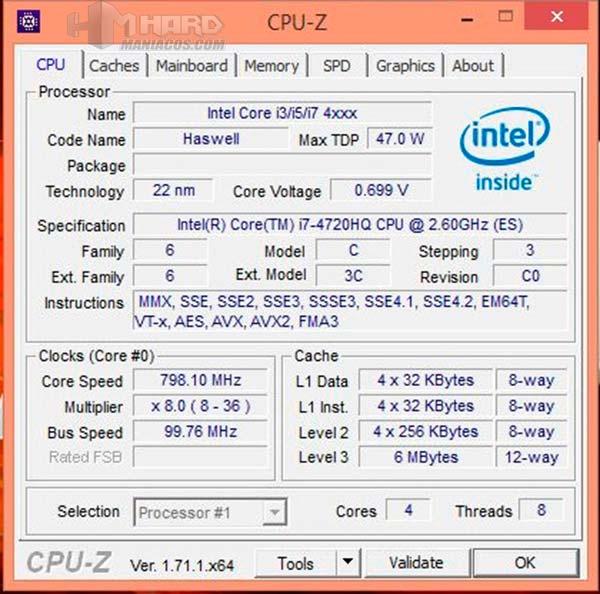 Portatil-GT80Titan-test-CPU-Z
