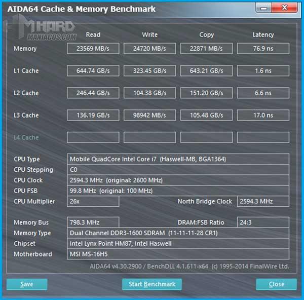 MSI-GS60-2QE-Ghost-Test-Aida64-Cache,-Memory-benchmark