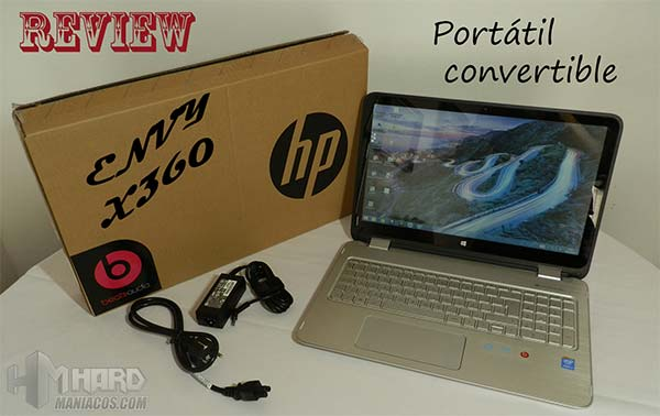 ▷ Review Portátil Convertible HP ENVY x360 15-u101ns, Práctico ...