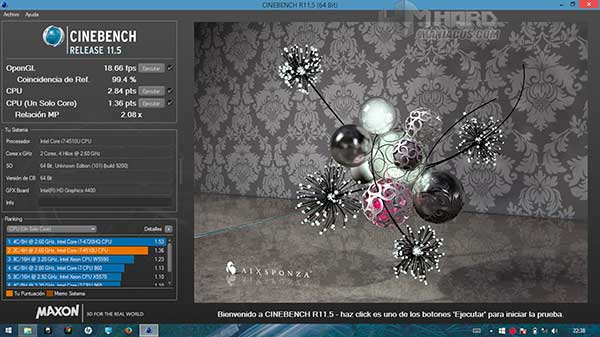Portatil-HP-Envy-Test-Cinebench