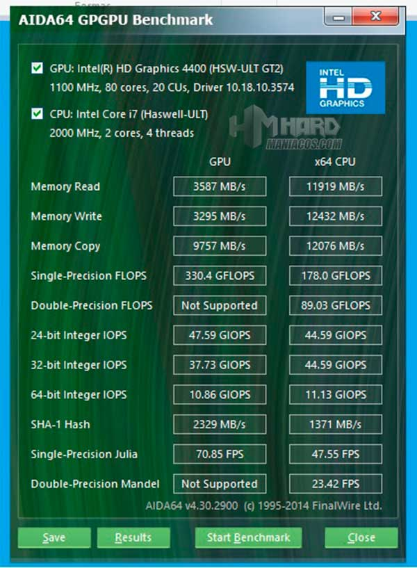 Portatil-HP-Envy-test-Aida-BenchMark-GPU