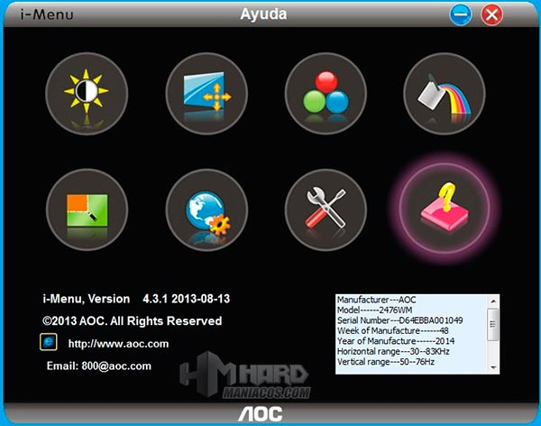 Monitor-AOC-iMenu