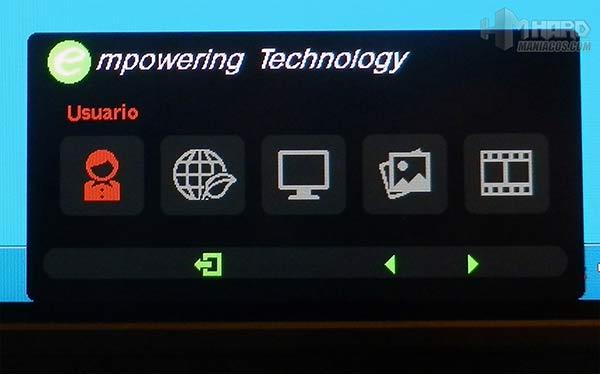Monitor-Acer-Predator-curvo-Menu-OSD-modo-Usuario