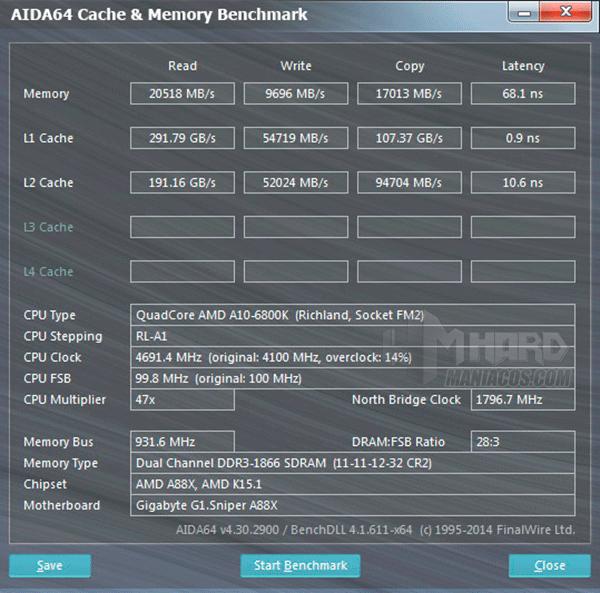 Kingston_HyperX_Fury_16Gb_2x8Gb_DDR3L_RAM_Aida