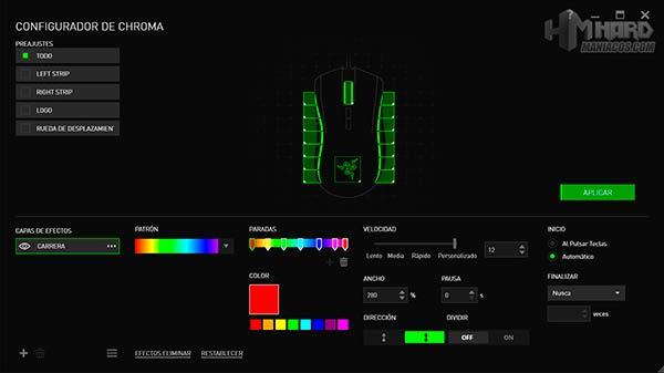 razer mamba tournament edition how to change color