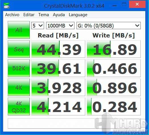 Test-CrystalDiskMark---Tarjeta-SD-Clase-10,-UHS-I-SDHC SDXC
