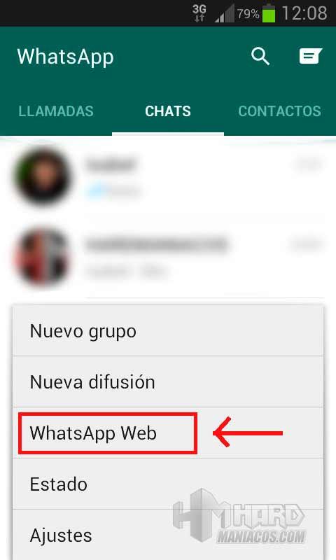 WhatsApp Web 2 configuracion