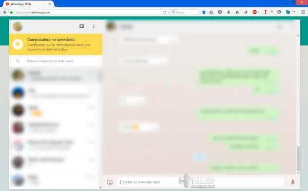 WhatsApp Web 5 Foto sin conexion en el movil