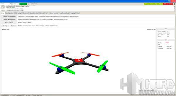 dron ZMR250 Baseflight setup