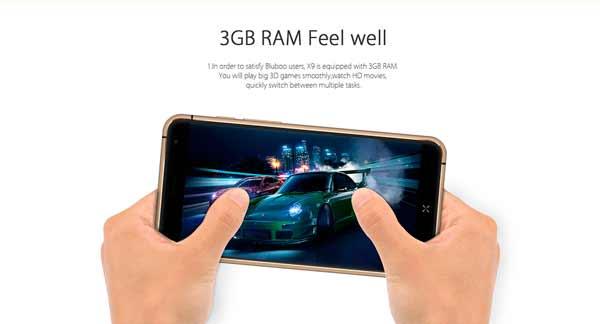 Bluboo X9 RAM