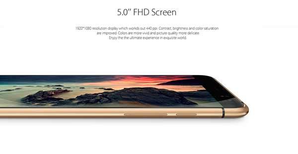 Bluboo X9 pantalla