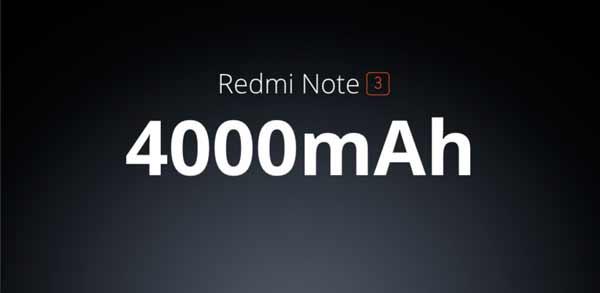 Redmi Note 3 bateria