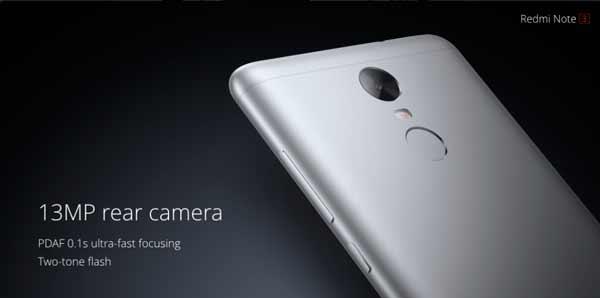 Redmi Note 3 camara