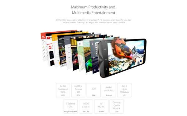 ASUS Zenfone Max 5 pantalla