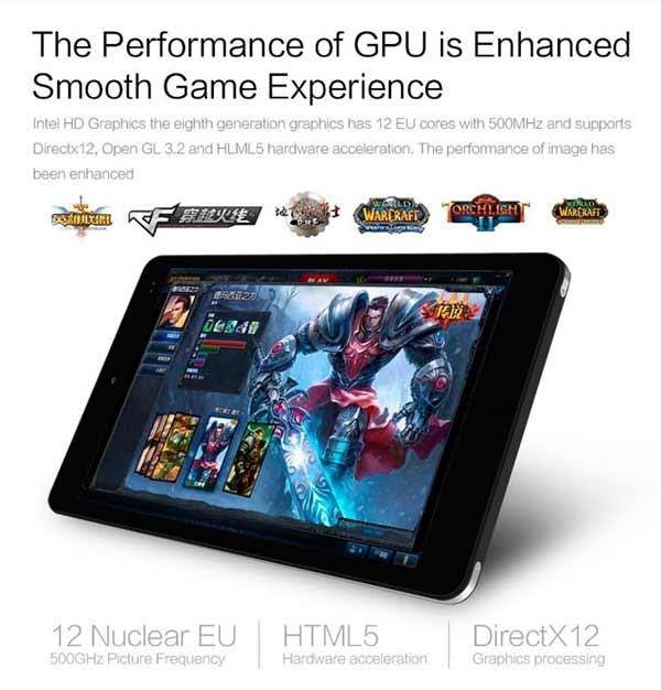 Chuwi Vi8 Plus GPU