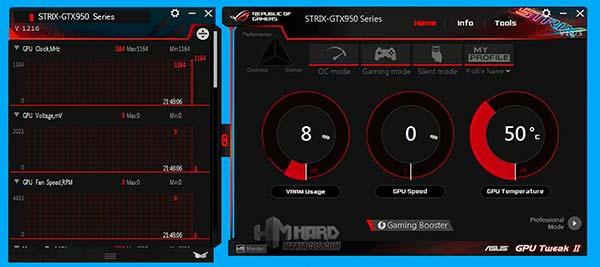 Geforce GTX 950 GPU-Tweak-Configuraciones