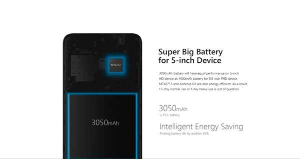 Ulefone Metal Bateria