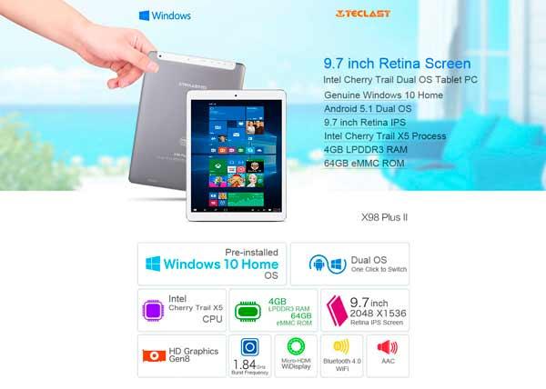 promocion Tablets Teclast pantalla