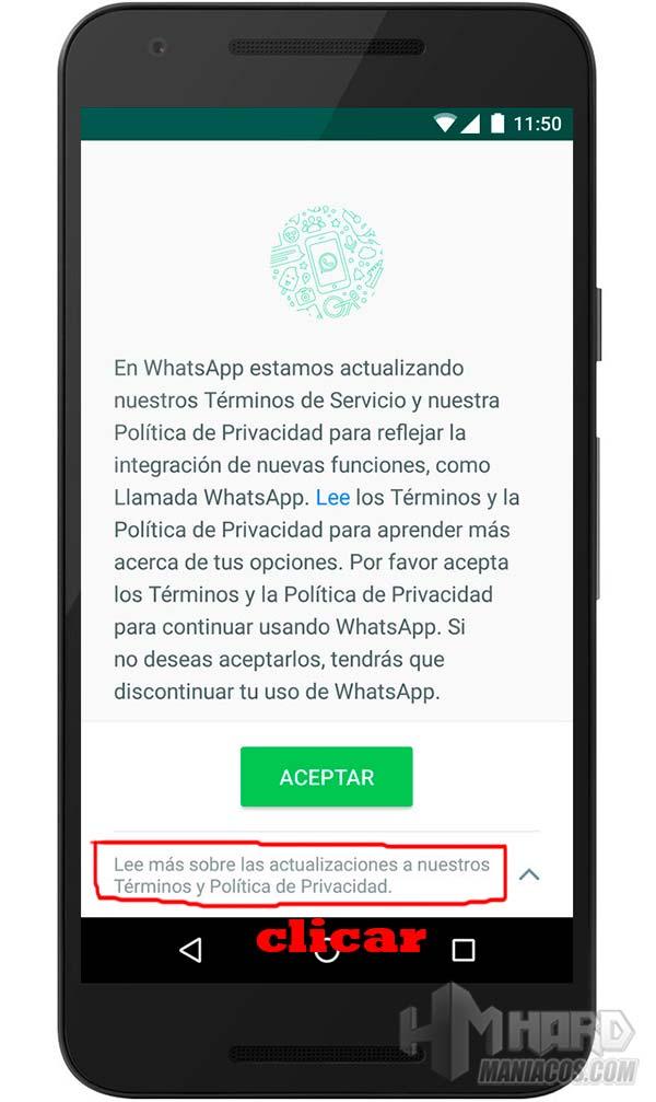 evitar que WhatsApp comparta nuestros datos con Facebook 1
