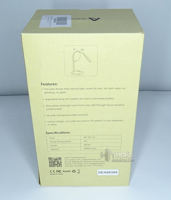 lámpara de escritorio portátil RGB Aukey 2