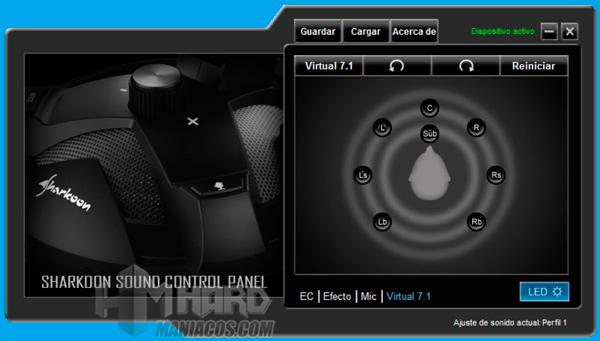 Sharkoon X-Rest 7.1 Virtual 7.1