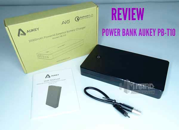 power bank aukey pb t10 portada