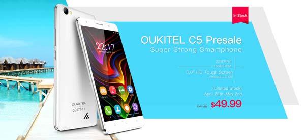 oukitel c5 disponible en preventa