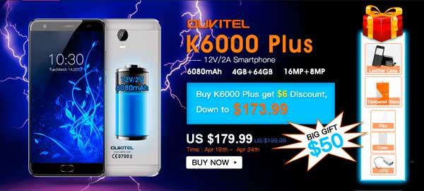 Lanzamiento del oukitel k6000 plus