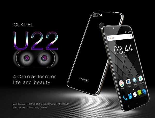Anunciado el OUKITEL U22 con cuatro cámaras